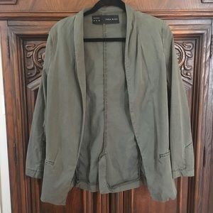 Zara Army Green Lightweight Utility Jacket 🌵